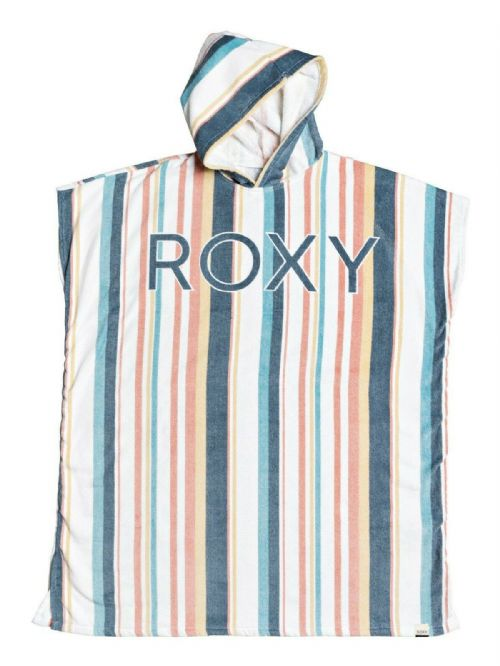 ROXY WOMENS PONCHO TOWEL.NEW BEACH FREAKS STRIPED BEACH CHANGING ROBE 9W 39WB